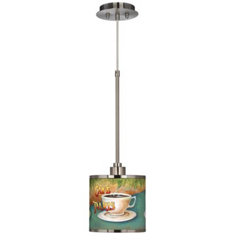 Cafe Paris Giclee Glow Mini Pendant Light