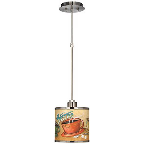 Cafe Bistro Giclee Glow Mini Pendant Light