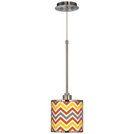Flame Zig Zag Giclee Glow Mini Pendant Light