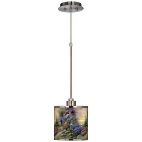 Thomas Kinkade Seaside Hideaway Giclee Glow Mini Pendant Light