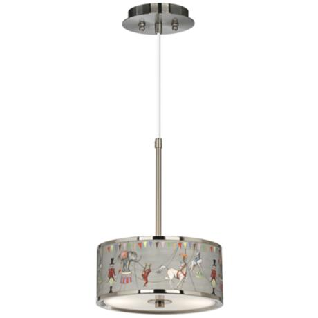 "Circus Time  10 1/4"" Wide Giclee Glow Pendant Light"