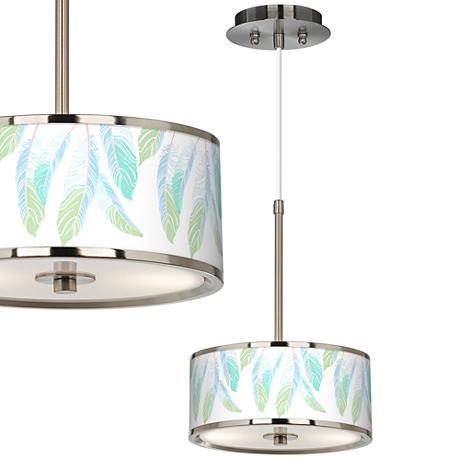 "Light as a Feather Giclee Glow 10 1/4"" Wide Pendant Light"