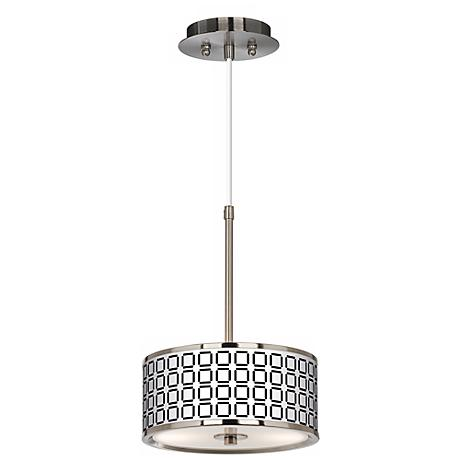 "Open Grid Giclee Glow 10 1/4"" Wide Pendant Light"