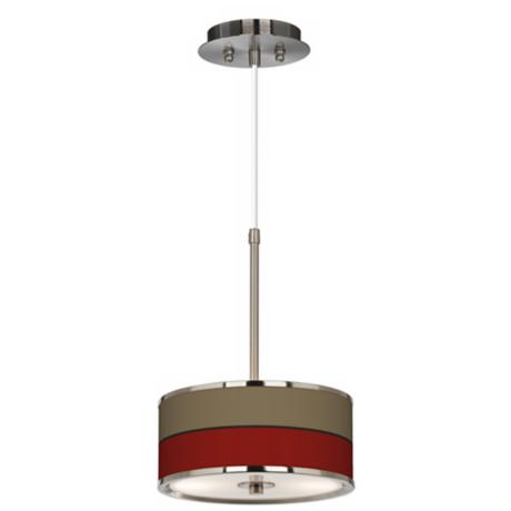 "Empire Red Giclee Glow 10 1/4"" Wide Pendant Light"