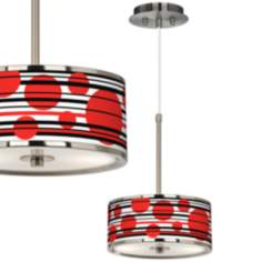 "Red Balls Giclee Glow 10 1/4"" Wide Pendant Light"