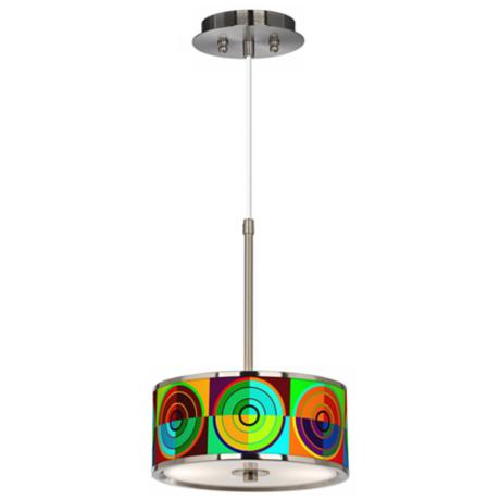 "Circle Parade Giclee Glow 10 1/4"" Wide Pendant Light"