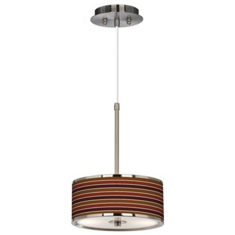 "Tones Of Sienna Giclee Glow 10 1/4"" Wide Pendant Light"