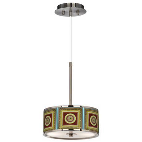 "Stacy Garcia Tiber Medallion Garnet 10 1/4"" Pendant Light"
