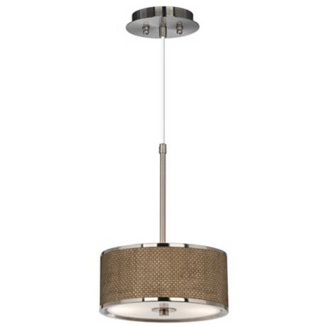 "Interweave Giclee Glow 10 1/4"" Wide Pendant Light"