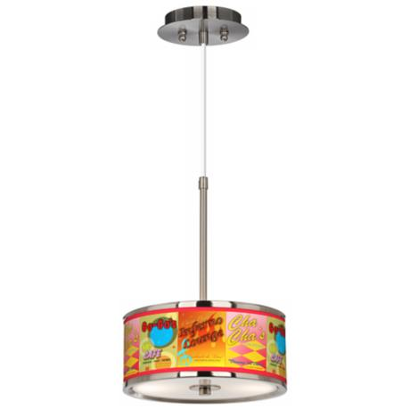 "Retro Diner Giclee Glow 10 1/4"" Wide Pendant Light"