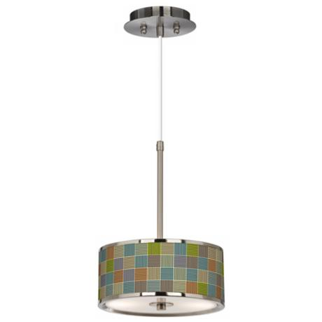 "Pixel City Giclee Glow 10 1/4"" Wide Pendant Light"