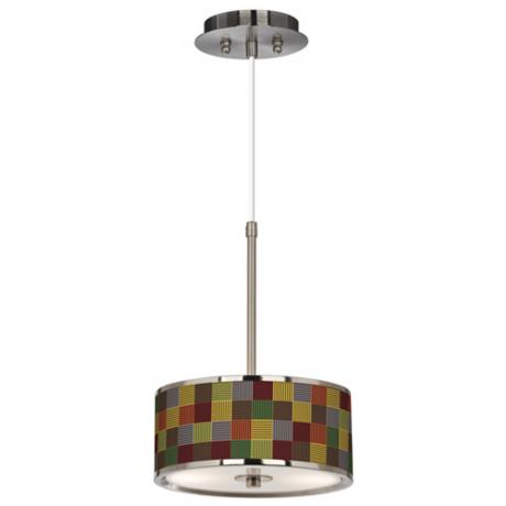 "Pixel Forest Giclee Glow 10 1/4"" Wide Pendant Light"