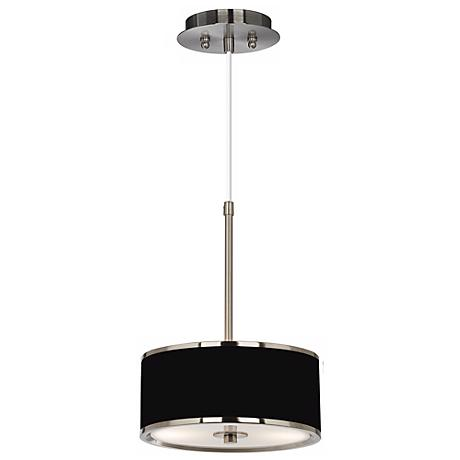 "All Black Giclee Glow 10 1/4"" Wide Pendant Light"