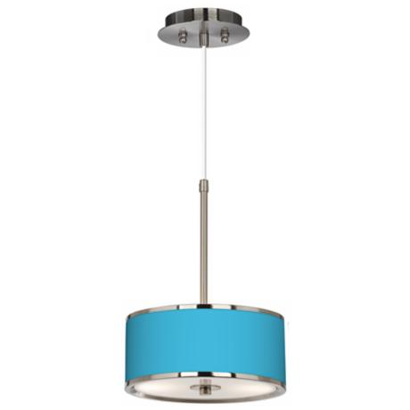 "All Aqua Giclee Glow 10 1/4"" Wide Pendant Light"