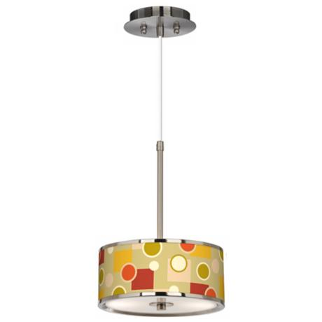 "Retro Citrus Medley Giclee Glow 10 1/4"" Wide Pendant Light"