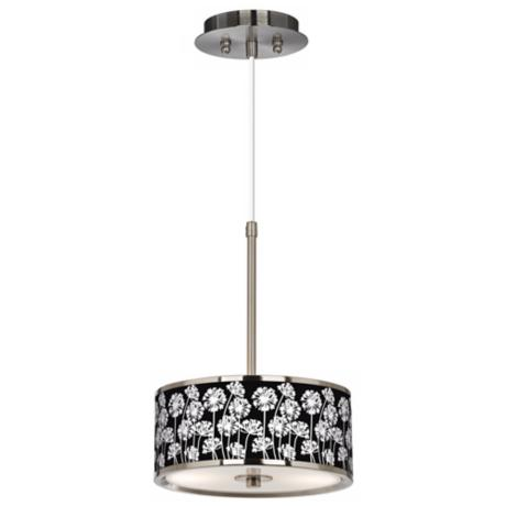 "Stacy Garcia African Lily 10 1/4"" Wide Black Pendant Light"