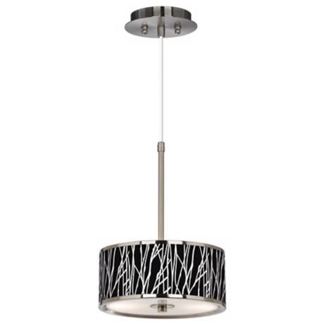 "Stacy Garcia Twiggy Black 10 1/4"" Wide Pendant Light"