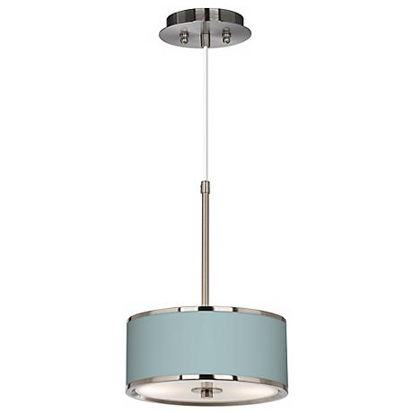 "Festoon Aqua Giclee Glow 10 1/4"" Wide Pendant Light"