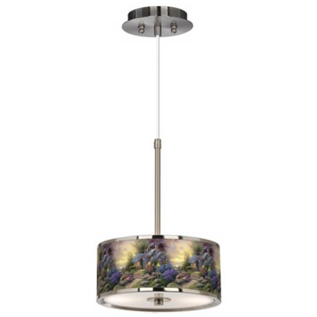 "Thomas Kinkade Seaside Hideaway 10 1/4"" Wide Pendant Light"