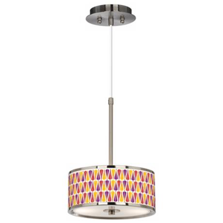 "Hinder Giclee Glow 10 1/4"" Wide Pendant Light"