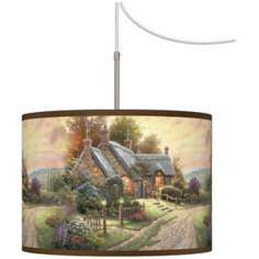 Thomas Kinkade A Peaceful Time Plug-In Swag Chandelier