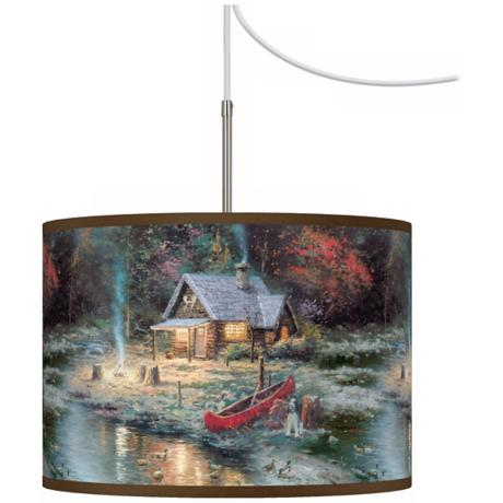 Thomas Kinkade The End Of A Perfect Day II Plug-In Swag Light