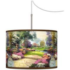 Thomas Kinkade Living Waters Golfer's Paradise Chandelier