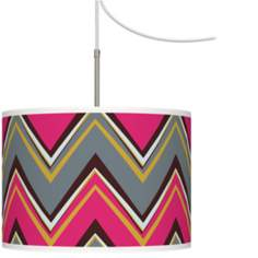 Stacy Garcia Chevron Pride Pink Swag Style Chandelier