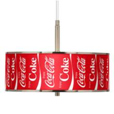 "Enjoy Coca-Cola® 16"" Wide Pendant Light"