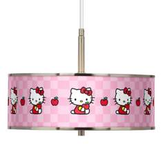 "Hello Kitty Apples Giclee Glow 16"" Wide Pendant Light"