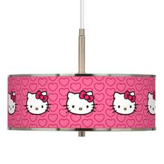 "Hello Kitty Hearts Giclee Glow 16"" Wide Pendant Light"
