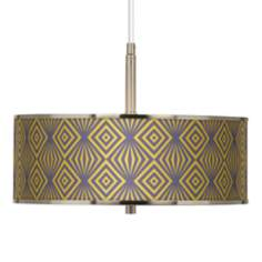 "Deco Revival Giclee Glow 16"" Wide Pendant Light"