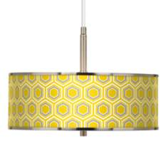 "Honeycomb Giclee Glow 16"" Wide Pendant Light"