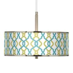 "Hyper Links Giclee Glow 16"" Wide Pendant Light"