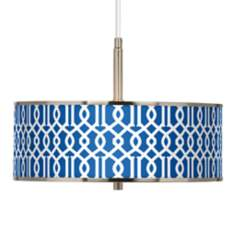 "Chain Reaction Giclee Glow 16"" Wide Pendant Light"