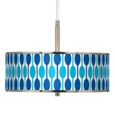 "Jet Set Giclee Glow 16"" Wide Pendant Light"