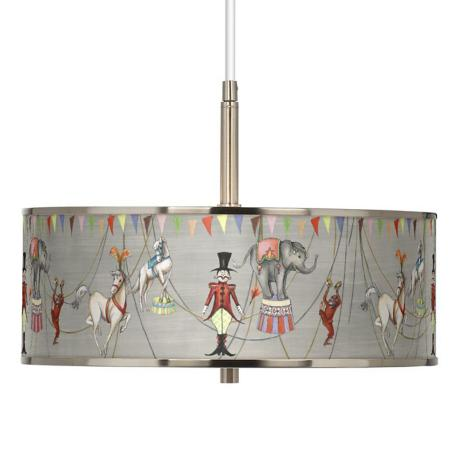 "Circus Time Giclee Glow 16"" Wide Pendant Light"