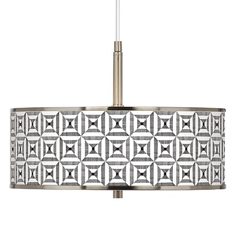 "Tile Illusion Giclee Glow 16"" Wide Pendant Light"