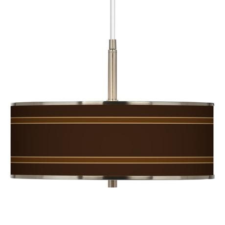 "Saratoga Stripe Giclee Glow 16"" Wide Pendant Light"