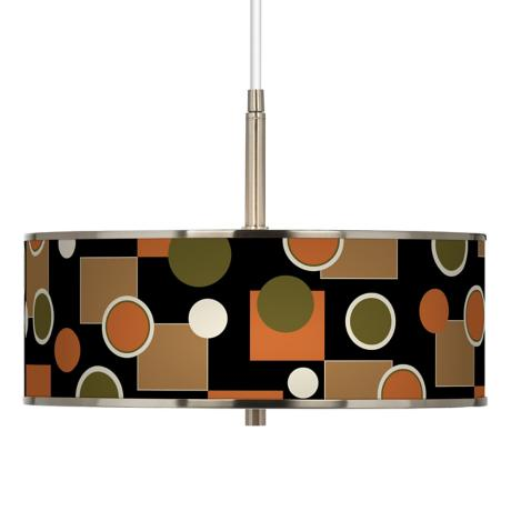 "Retro Medley Giclee Glow 16"" Wide Pendant Light"