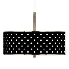 "Mini Dots Black Giclee Glow 16"" Wide Pendant Light"