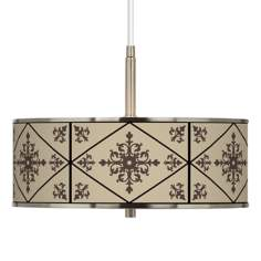 "Chambly Giclee Glow 16"" Wide Pendant Light"