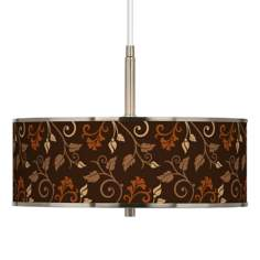 "Foliage Giclee Glow 16"" Wide Pendant Light"