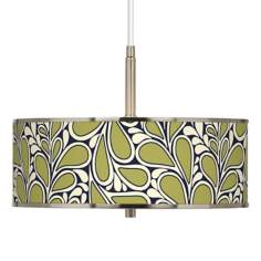 "Stacy Garcia Rain Metal Giclee Glow 16"" Wide Pendant Light"