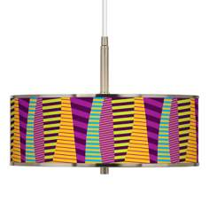 "Mambo Giclee Glow 16"" Wide Pendant Light"