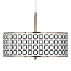 "Open Grid Giclee Glow 16"" Wide Pendant Light"
