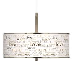 "Positivity Giclee Glow 16"" Wide Pendant Light"