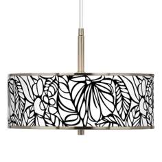 "Jungle Moon Giclee Glow 16"" Wide Pendant Light"