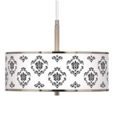 "French Crest Giclee Glow 16"" Wide Pendant Light"