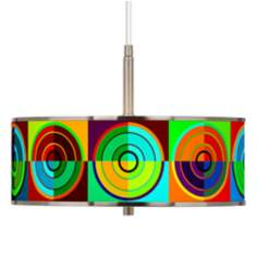 "Circle Parade Giclee Glow 16"" Wide Pendant Light"